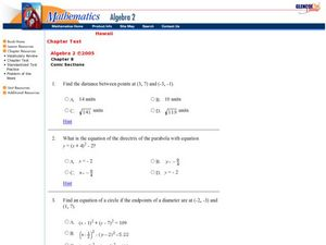 Conic Sections Worksheet