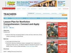 Connect and Apply Nonfiction Comprehension Lesson Plan