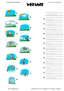 Connect the Dots and Write: Weather Worksheet