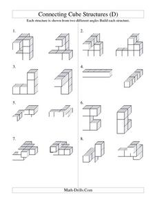Connecting Cube Structures Worksheet