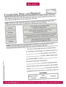 Connecting Past and Present Worksheet