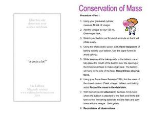 conservation of mass 6th 8th grade worksheet lesson planet. Black Bedroom Furniture Sets. Home Design Ideas
