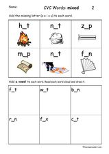 Consonant Vowel Consonant Words Lesson Plan