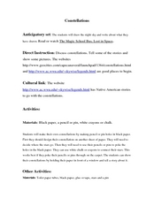 Constellations Lesson Plan