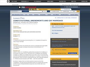 Constitutional Amendments and Gay Marriage Lesson Plan