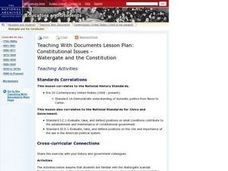 Constitutional Issues: Watergate and the Constitution Lesson Plan
