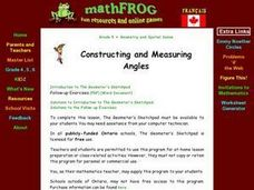 Constructing and Measuring Angles Lesson Plan
