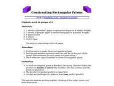 Constructing Rectangular Prisms Lesson Plan