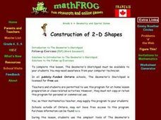 Construction of 2-D Shapes Lesson Plan