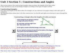 Constructions and Angles Worksheet