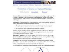 Constructions of Isosceles and Equilateral Triangles Lesson Plan