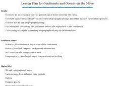Continents and Oceans on the Move Lesson Plan