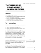 Continuous Probability Distributions Lesson Plan