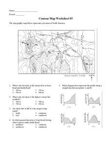 contour map worksheet 3 6th 9th grade worksheet lesson planet. Black Bedroom Furniture Sets. Home Design Ideas