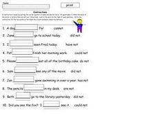 Contractions 2 Worksheet