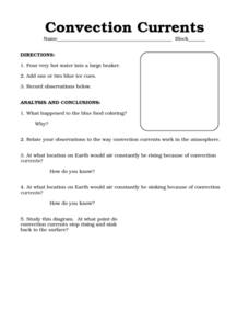 Worksheets Conduction Convection Radiation Worksheet conduction convection and radiation worksheet answers intrepidpath elementary worksheets