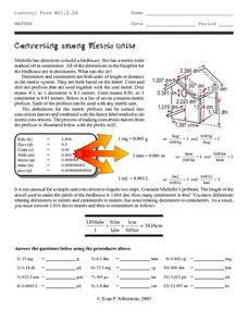 Converting among Metric Units Worksheet
