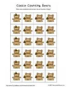 Cookie Counting Bears Worksheet