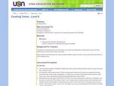 Cooking Terms - Level II Lesson Plan