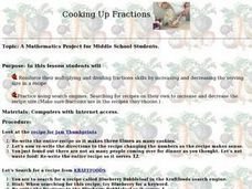 Cooking Up Fractions Lesson Plan