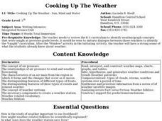 Cooking Up The Weather: Sun, Wind and Water Lesson Plan