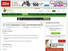 Cooperation, Trust and Interdependence Lesson Plan