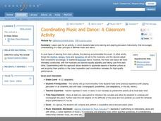 Coordinating Music and Dance: A Classroom Activity Lesson Plan