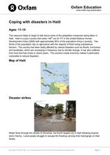 Coping With Disasters in Haiti Lesson Plan
