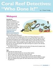 Coral Reef Detectives: Who Done It? Lesson Plan