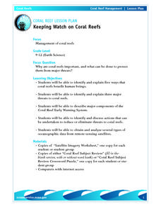 Coral Reef Lesson Plan Keeping Watch on Coral Reefs Lesson Plan