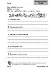 Correct Sentences Worksheet