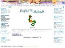 Correct the Spelling Errors-- Two Lists Worksheet