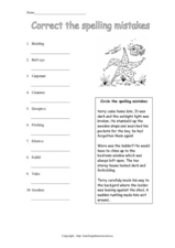 Correct the Spelling Mistakes Worksheet