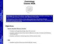 Cosmology Cosmic Walk Lesson Plan