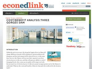 Cost/Benefit Analysis:Three Gorges Dam Lesson Plan