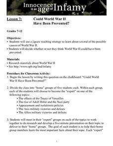 Could World War II Have Been Prevented? Lesson Plan