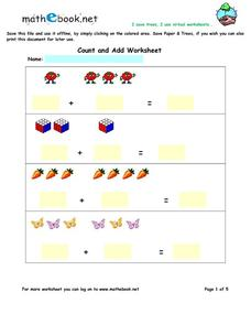 Count and Add Worksheet Worksheet