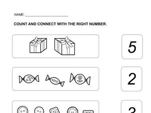 Count and Connect With the Right Number Worksheet