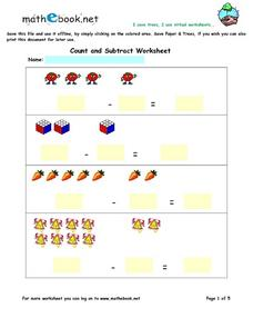 Count and Subtract Worksheet