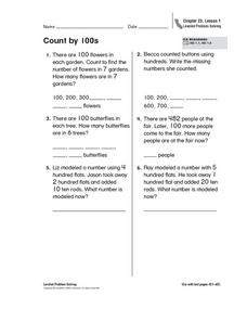 Count by 100s Worksheet