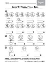 Count by Twos, Fives, Tens - Reteaching Worksheet