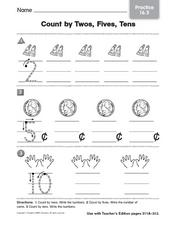 Count By Twos, Fives, Tens Worksheet
