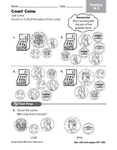 Count Coins: Practice Worksheet