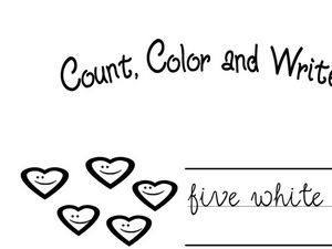 Count, Color and Write Worksheet