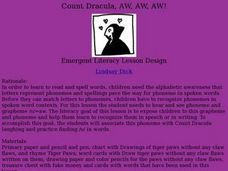 Count Dracula, AW, AW, AW! Lesson Plan