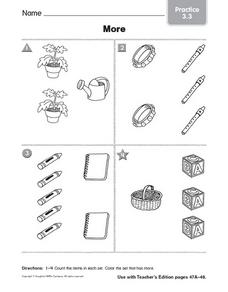 Count Items: More Worksheet