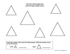 Count Shapes: Triangles Worksheet