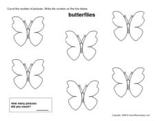 Count the Butterflies (6) Worksheet