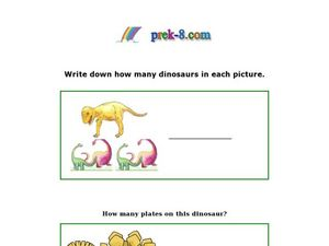 Count the Dinosaurs Worksheet