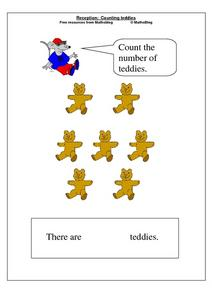 Count the Number of Teddies Worksheet